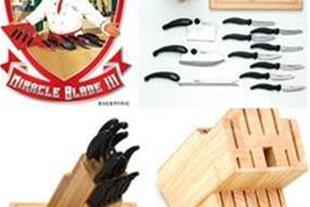 جدیدترین ست چاقو میراکل بلید 16 پارچه با پایه چوبی