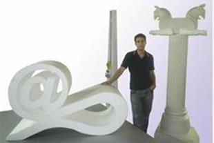 دستگاه CNC برش فوم- تولید احجام تبلیغاتی