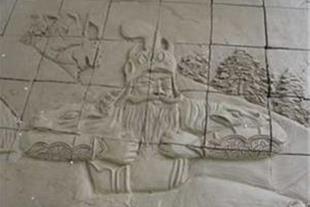 سفال نقش برجسته ، کتیبه سفال ، تابلوی سفالی