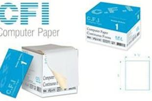 کاغذ کامپیوتر فرم پیوسته 80 ستونی 2 نسخه CFI Paper