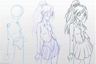 آموزش رسم و نقاشی شخصیت های کارتونی ژاپنی