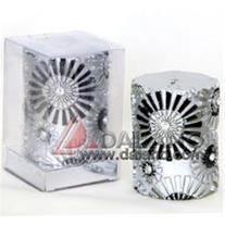 شمع استوانه ای نقره ای Silver Column candle