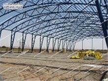 اجرای سوله به روش خرپایی - اجرای سازه با سقف هلالی - 1