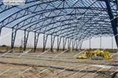 اجرای سوله به روش خرپایی - اجرای سازه با سقف هلالی