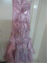 لباس نامزدی یاحنابندان دنباله دارسایز38 همراه کت