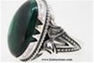 انگشتر نقره مالاکیت (Malachite)
