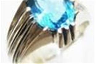 """فروش انگشتر توپاز آبی """" B.Topaz """""""