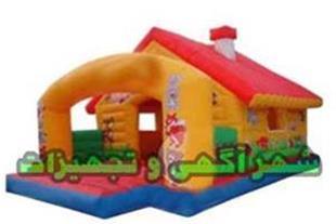 استخر توپ بادی مدل کلبه جادویی همراه با جامپینگ
