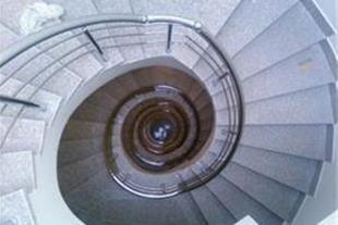 نرده استیل برای پله گرد