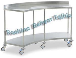 میز منحنی ساده استیل - 1