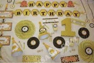 لوازم جشن تولد تم زنبوری