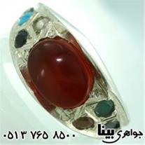انگشتر چند جواهر عقیق یمنی هفت سنگ مردانه