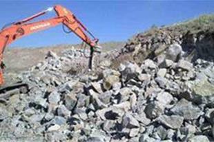 معدن سنگ لاشه و مالون فعال در خراسانک هشترود