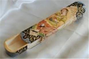 فروش قلمدان استخوان شتر با طرح صورت