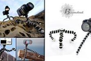 سه پایه عکاسی موبایل و دوربین با طراحی انعطاف پذیر