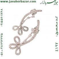 گوشواره نقره قاصدک درشت زنانه - کد 4197