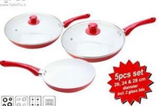 تابه 5 تکه سرامیکی Ceramic Pan در سه سایز مختلف با