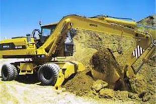 خاکبرداری و گودبرداری با بیل مکانیکی - 1