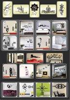 آینه های دکوراتیو - ساعت دیواری فانتزی دکوتک