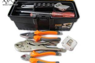 جعبه ابزار پلاستیکی مهر سایز کوچک PT 13 +ابزارهای