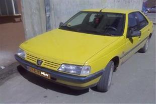 تاکسی پژو 405 زرد مدل 85