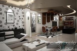 طراحی 3dmax فضای داخلی ، نمای ساختمان و کابینت