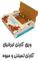 تولیدکننده کارتن لمینتی و کارتن میوه