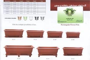 گلدانهای مستطیل گلپونه giahiran.com