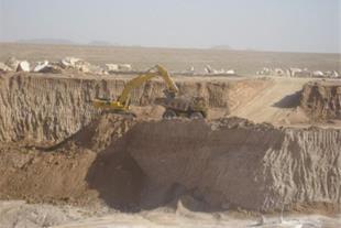 معدن لاشه آهکی در 4 کیلومتری شهرکرد