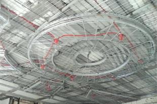 اجرای رابیتس بندی سقف و اپن آشپزخانه در شیراز