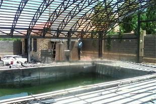 ساخت سازه فلزی در شیراز، سقف استخر و ویلا