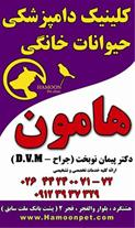 کلینیک دامپزشکی هامون در غرب استان البرز