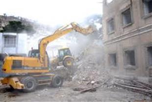پیمانکاری و تخریب ساختمان شهبازی در تبریز