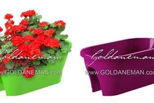 گلدان روی نرده، گلدان نرده ای، گلدان بالکنی