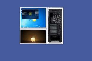 سیستم عامل مک در کنار ویندوز سون در کیس PC