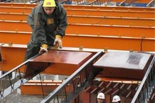 اجرای سقف کامپوزیت, کرومیت با قالب سبک پلاستیکی