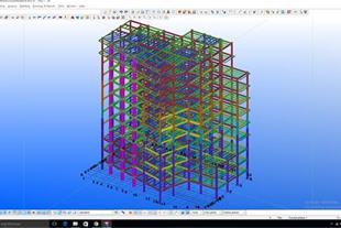 ساخت و نصب اسکلت فلزی و تهیه نقشه های شاپ باTekla