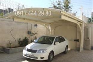 ساخت سازه فلزی پارکینگ سایبان-شیراز