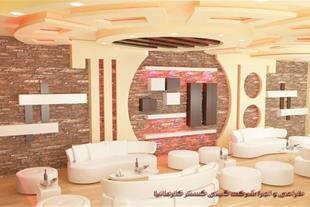 اجرای نمای داخلی ساختمان با سنگ آنتیک و کناف