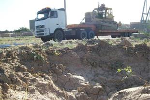 حمل دستگاه آلات راهسازی کشاورزی