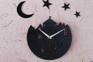 ساعت دیواری فرشته و ستاره مدل جدید