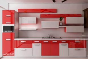کوراسیون داخلی منزل  و   کابینت آشپزخانه