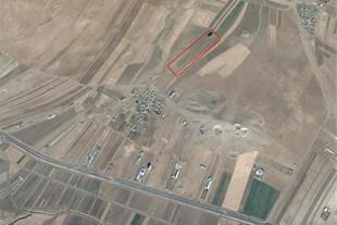 فروش زمین کشاورزی 6 کیلومتری شیروان کنار جاده سنتو