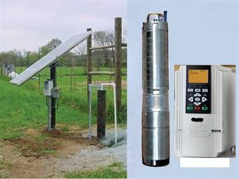 پمپ آب خورشیدی با عمق 56 مت وآبدهی 6متر مکعب در - 1