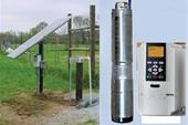 پمپ آب خورشیدی با عمق 56 مت وآبدهی 6متر مکعب در