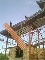 سقف شیبدار/اردواز/سوله/نصب شیروانی/قیمت شیروانی - 1