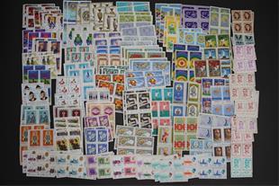 150 بلوک تمبرهای مهر نخورده بین سالهای 45 تا 57 - 1