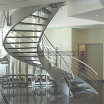 طراحی و تولید پله اضطراری ، پله فرار ، پله گرد