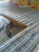 اجرای سقف کامپوزیت عرشه فولادی