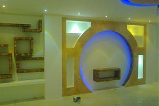طراحی و اجرای دکوراسیون کناف،سقف کاذب،نور مخفی